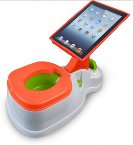iPotty, a training toilet with a built-in iPad mount