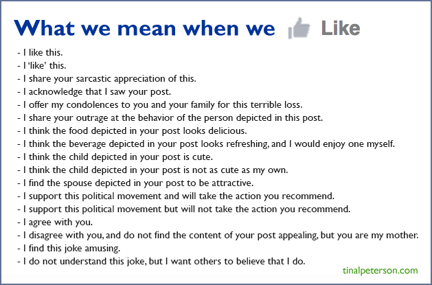 What we mean when we 'like' things on Facebook